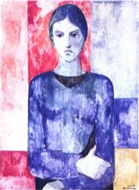 retrato de chus blanco, mujer del pintor by jaime quessada
