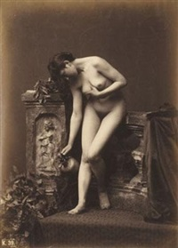 nude study with water jar by louis jean baptiste igout