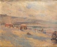 scène de plage à fécamps by charles garabed atamian