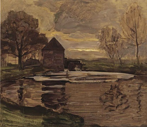 the old mill at oele by piet mondrian