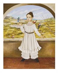 niña con aves by alejandro camarena