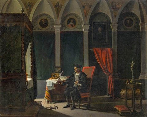 christoph columbus im studienzimmer by françois marius granet