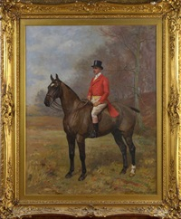 portrait of general morant mounted upon his horse sudani by arthur grenville haig