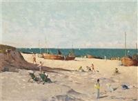 walmer beach, kent by norman wilkinson