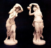 'erigone'and 'bacchante por- tant un petit satyre', two   marble groups by jean-joseph foucou