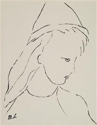 jeune fille by marie laurencin