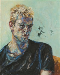 portrait of young man by maggi hambling