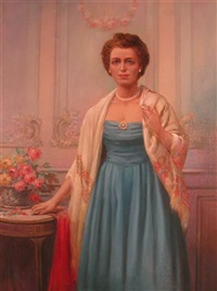 portrait of a lady by david cunningham lithgow