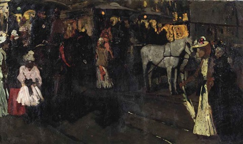 zondagavond op de dam a sunday evening at the dam amsterdam by george hendrik breitner