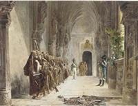 the defence line (after jean georges vibert) by antonio bignoli