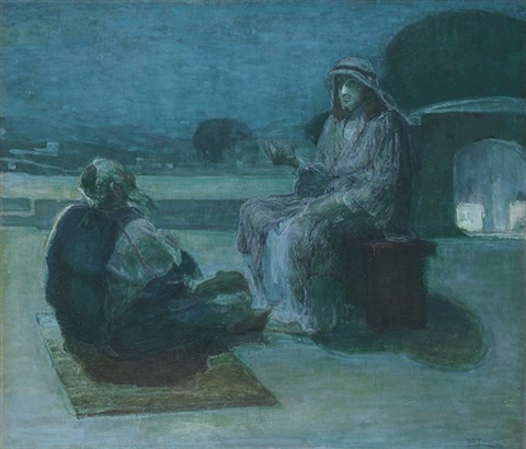 nicodemus coming to christ by henry ossawa tanner