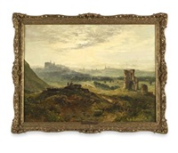 edinburgh from st. anthony's chapel by samuel bough