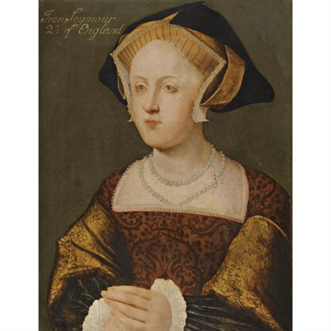 portrait of lady jane seymour, wife of henry viii by hans holbein the younger