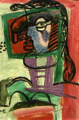 Femme la fen tre de georges by le corbusier on artnet for A la fenetre sarthoise