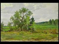 landschaft im frühling by aleksandr andreievich gusarevich