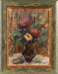 blumenstrauß in vase by leon abramowicz