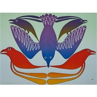 feathered rainbow by kenojuak ashevak
