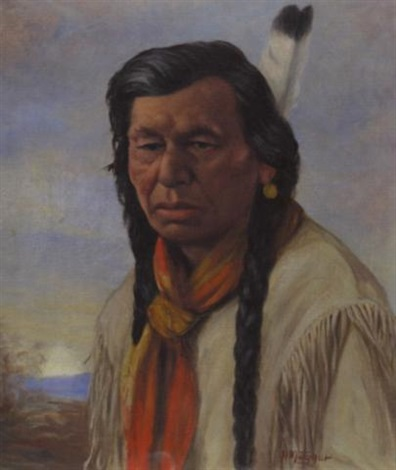 chief achim cree indian by henry metzger