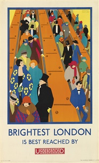 brightest london is best reached by underground by horace weston taylor