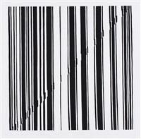 ohne titel - schwarze streifen auf weiss by wieslawa stachel