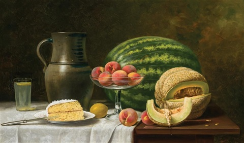 still life with melons by albert francis king on artnet