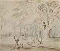 the deer park of the château of mariemont by jan brueghel the elder