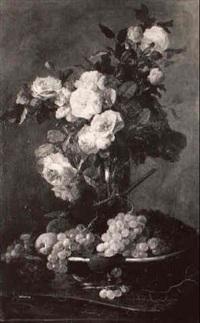 vase de fleurs et fruits by joseph jubreaux