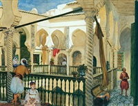 a moorish house, algiers by pierre-antoine labouchere