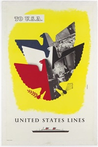 to usa, united states line by rafael armengol