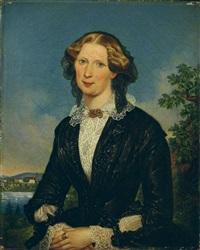 bildnis einer dame in schwarzem kleid by ludwig (georg l.) vogel