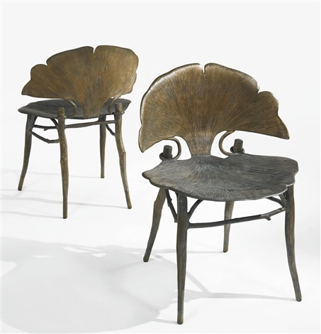 Pair Of Gingko Chairs By Claude Lalanne