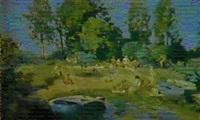 au bord de la riviere by vladimir litvinienko
