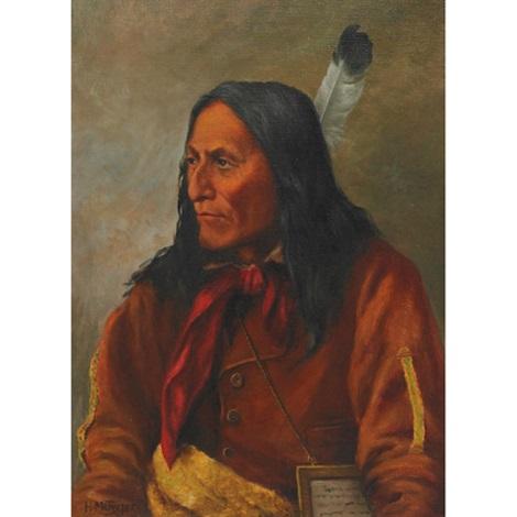 chief crowfoot blackfoot by henry metzger