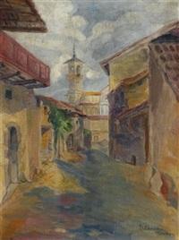 dorfstraße by heinrich ehmsen