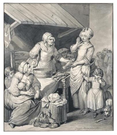 le marché aux poissons by pierre alexandre wille