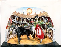 bull fight by red grooms