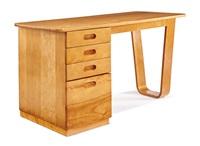 pedestal desk by marcel breuer