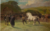 lot 97 - a grey mare by william frank calderon