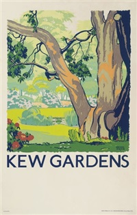 kew gardens (poster) by gregory brown