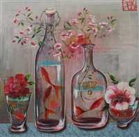 série vases au poissons rouges by sophie adde