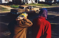 untitled (two women wearing head scarves, memphis) by william eggleston