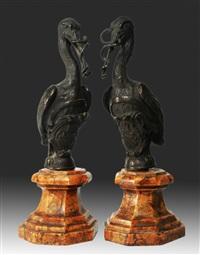 cicogne reggistemma by arte della ceramica