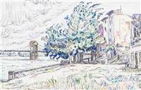 bourg saint-andeol by paul signac