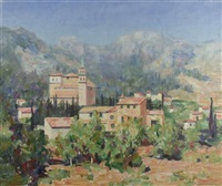 a tuscan landscape by william wright campbell