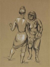 untitled (two women in conservation) by o. louis guglielmi