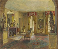 salon of the chateau du breau by walter gay