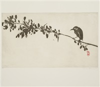 bird on a branch by brett whiteley