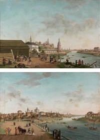 deux vues de nijni novgorod (pair) by fedor yakovlevich alekseev