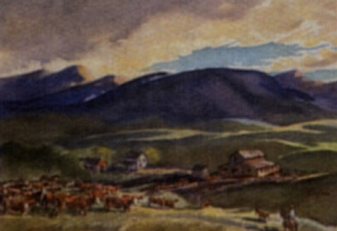 untitled foothills ranch by henry john simpkins