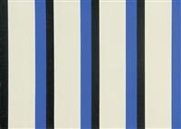 schwarz-blau, doppelstreifen by andreas brandt